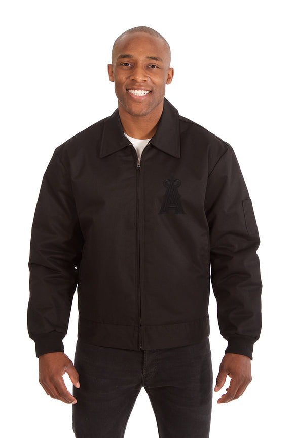 Los Angeles Angels Cotton Twill Workwear Jacket - Black - JH Design