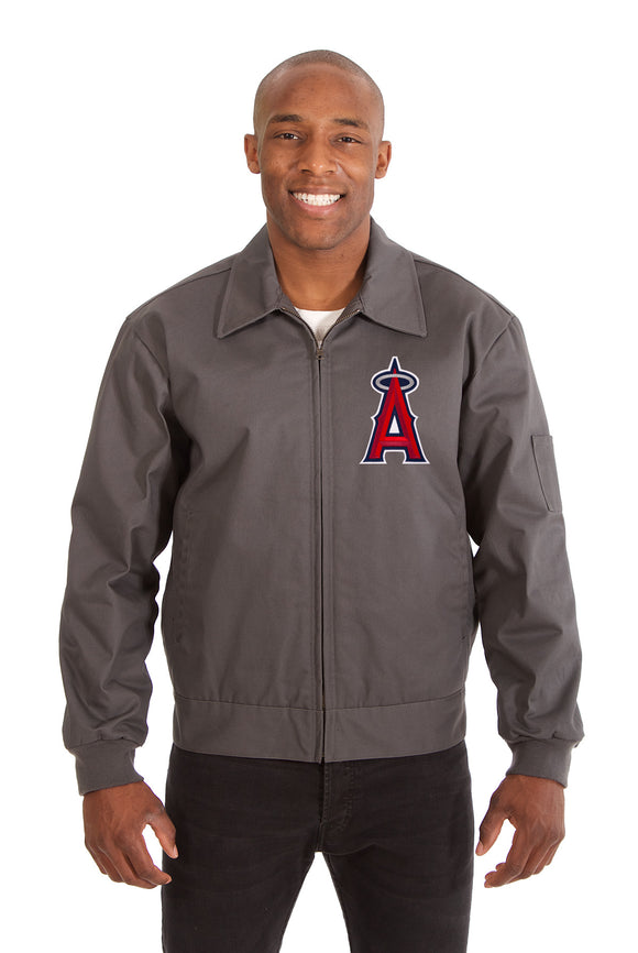 Los Angeles Angels Cotton Twill Workwear Jacket - Charcoal
