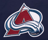 Colorado Avalanche Two-Tone Reversible Fleece Hooded Jacket - Navy/Gray - JH Design