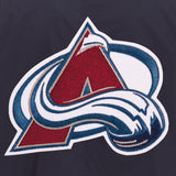 Colorado Avalanche JH Design Lightweight Nylon Bomber Jacket – Navy