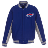 Buffalo Bills JH Design Wool Reversible Full-Snap Jacket – Royal