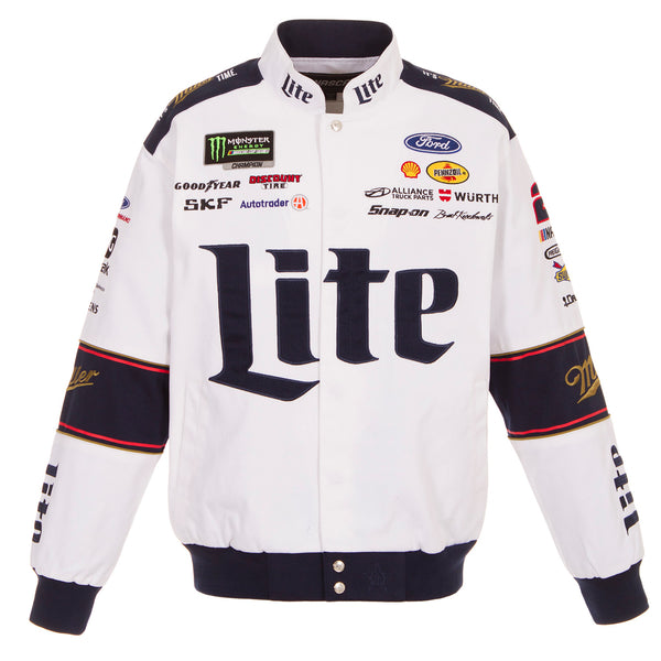 2018 Brad Keselowski Miller Lite Uniform Jacket - White