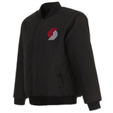 Portland Trail Blazers Reversible Wool Jacket - Black - JH Design