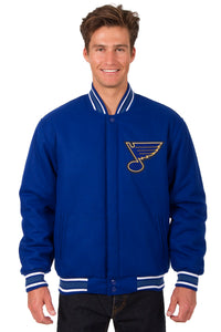 St. Louis Blues Reversible Wool Jacket - Royal Blue - J.H. Sports Jackets