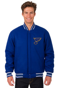 St. Louis Blues Reversible Wool Jacket - Royal