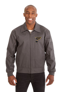 St. Louis Blues Cotton Twill Workwear Jacket - Charcoal - JH Design