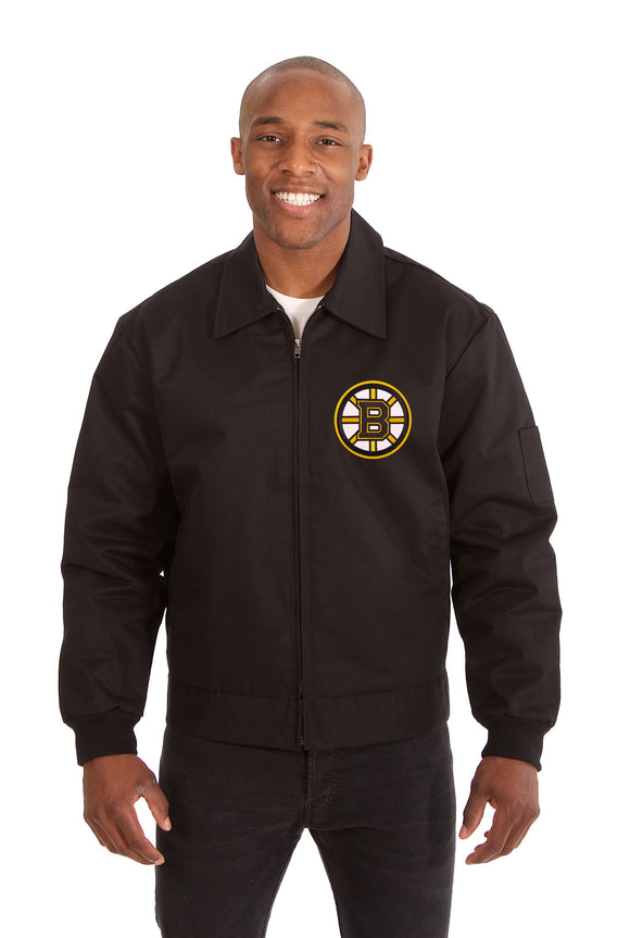 Boston Bruins Cotton Twill Workwear Jacket - Black - JH Design