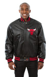 Chicago Bulls Full Leather Jacket - Black