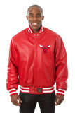 Chicago Bulls Full Leather Jacket - Red - JH Design