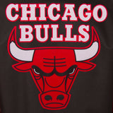 Chicago Bulls Poly Twill Varsity Jacket - Black/Red - JH Design