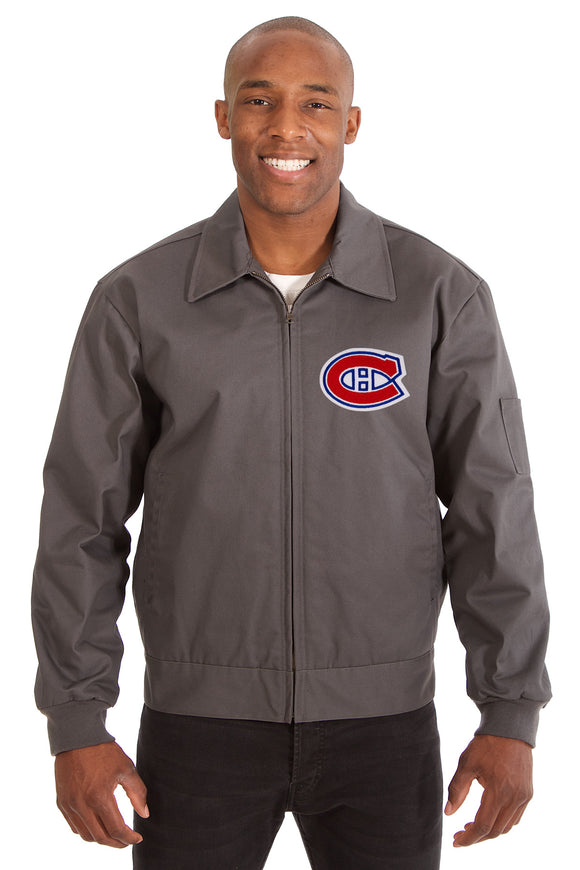 Montreal Canadiens Cotton Twill Workwear Jacket - Charcoal - JH Design