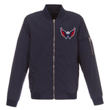 Washington Capitals JH Design Lightweight Nylon Bomber Jacket – Navy - JH Design