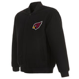 Arizona Cardinals Reversible Wool Jacket - Black - JH Design
