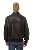 St. Louis Cardinals Full Leather Jacket - Black/Black - JH Design