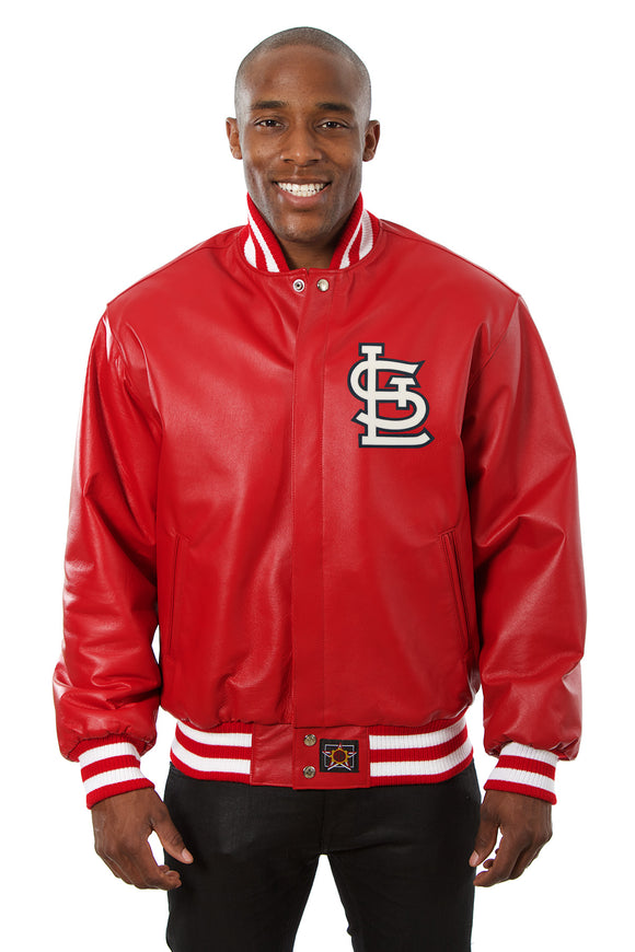 St. Louis Cardinals Full Leather Jacket - Red - JH Design