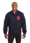 St. Louis Cardinals Cotton Twill Workwear Jacket - Navy