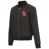 St. Louis Cardinals JH Design Reversible Women Fleece Jacket - Black - JH Design