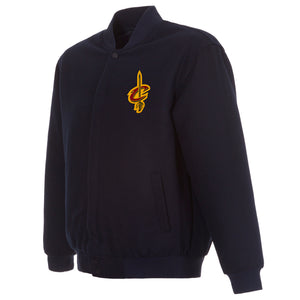 Cleveland Cavaliers Reversible Wool Jacket - Navy