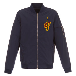 Cleveland Cavaliers JH Design Lightweight Nylon Bomber Jacket – Navy - JH Design