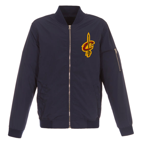 Cleveland Cavaliers JH Design Lightweight Nylon Bomber Jacket – Navy