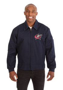Columbus Blue Jackets Cotton Twill Workwear Jacket - Navy