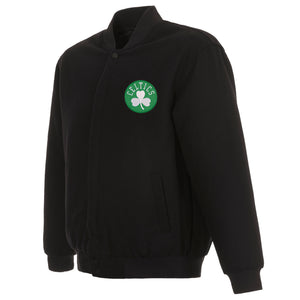 Boston Celtics Reversible Wool Jacket - Black - JH Design