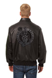 Boston Celtics Full Leather Jacket - Black/Black - JH Design