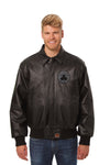 Boston Celtics Full Leather Jacket - Black/Black
