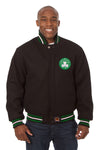 Boston Celtics Embroidered Wool Jacket - Black