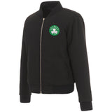 Boston Celtics JH Design Reversible Women Fleece Jacket - Black - JH Design