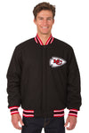 Kansas City Chiefs Reversible Wool Jacket - Black/Red