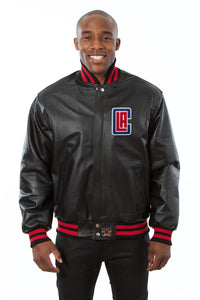 Los Angeles Clippers Full Leather Jacket - Black - JH Design