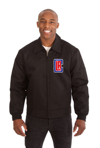 Los Angeles Clippers Cotton Twill Workwear Jacket - Black - JH Design