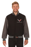 Corvette Embroidered Wool Jacket - Black/Grey