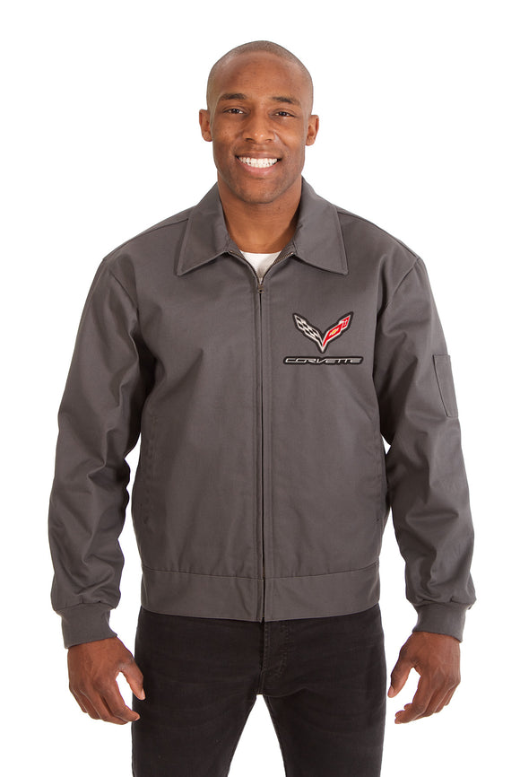 Corvette Cotton Twill Workwear Jacket - Charcoal - JH Design