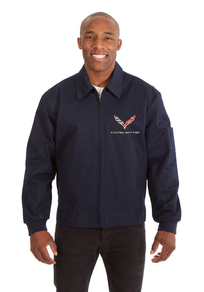 Corvette Cotton Twill Workwear Jacket - Navy