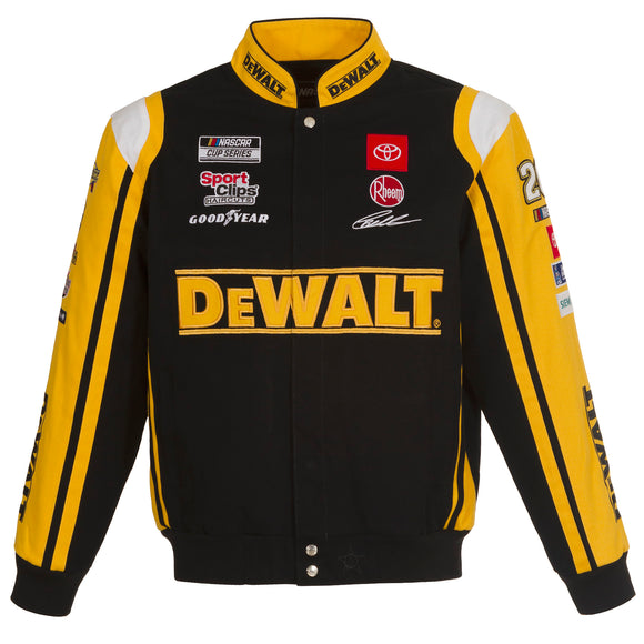 2021 Christopher Bell JH Design Dewalt Twill Uniform Full-Snap Jacket - JH Design