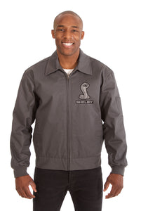 Shelby Cotton Twill Workwear Jacket - Charcoal - JH Design