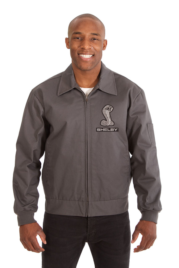 Shelby Cotton Twill Workwear Jacket - Charcoal