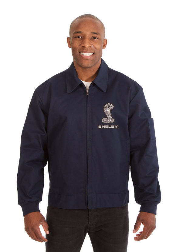 Shelby Cotton Twill Workwear Jacket - Navy - JH Design