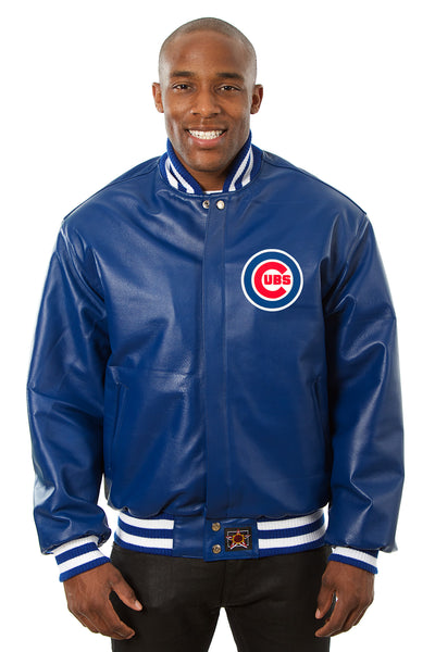 Chicago Cubs Full Leather Jacket - Royal