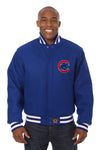 Chicago Cubs Embroidered Wool Jacket - Royal