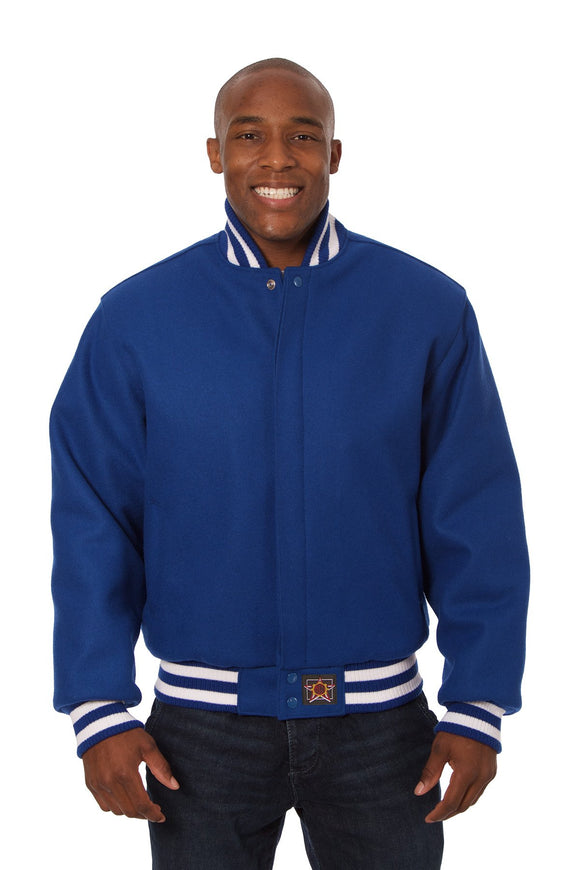 JH Design - All-Wool Varsity Jacket - Royal - JH Design
