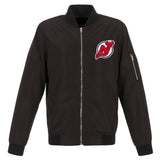 New Jersey Devils JH Design Lightweight Nylon Bomber Jacket – Black - JH Design
