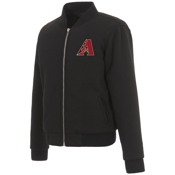 Arizona Diamondbacks JH Design Reversible Women Fleece Jacket - Black - JH Design