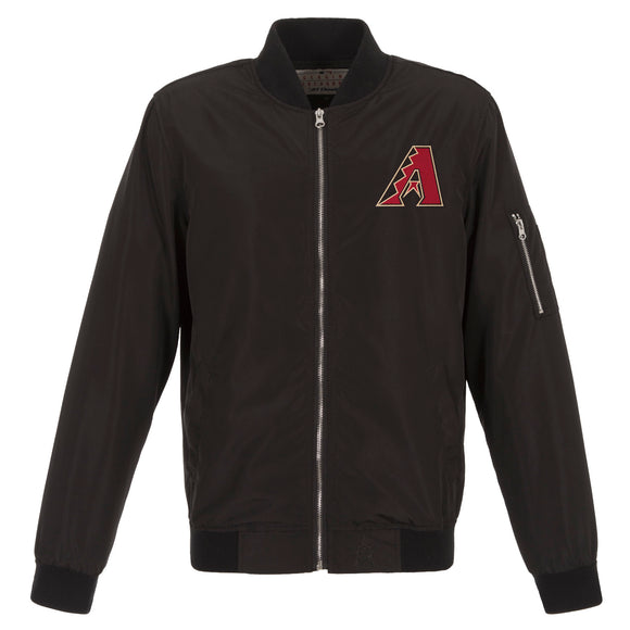 Arizona Diamondbacks JH Design Lightweight Nylon Bomber Jacket – Black - JH Design