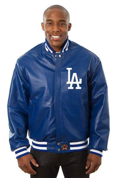 Los Angeles Dodgers Full Leather Jacket - Royal
