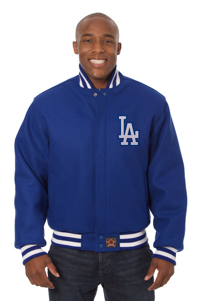 Los Angeles Dodgers Embroidered Wool Jacket - Royal
