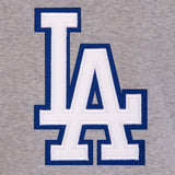 Los Angeles Dodgers Two-Tone Reversible Fleece Hooded Jacket - Gray/Royal - JH Design