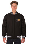 Anaheim Ducks Reversible Wool Jacket - Black